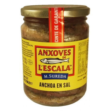 Anchoas de la Escala. Anchoa en sal.