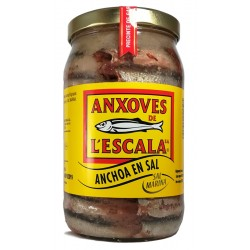 ANCHOAS DE LA ESCALA. ANCHOA EN SAL  2,5KG