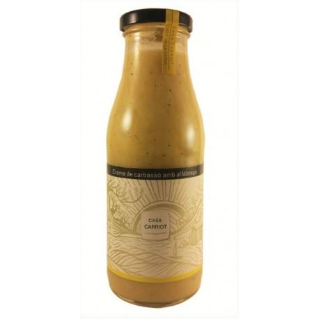 Crème de courgettes au basilic