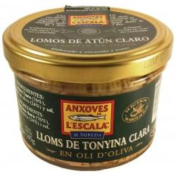 Lenden von leichtem Thunfisch in Olivenöl