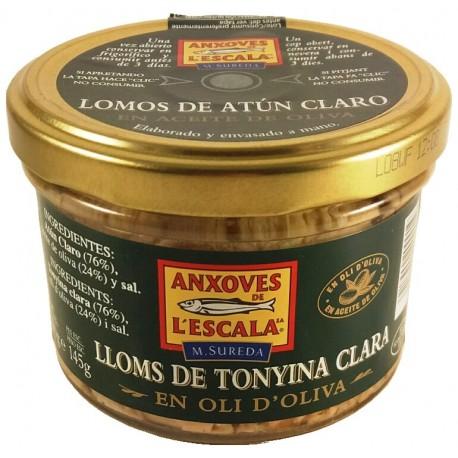 Lomos de atún claro en aceite de oliva