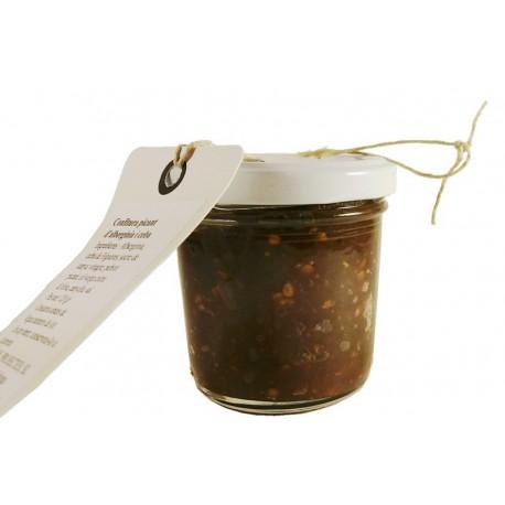 Confitura picante berenjena y cebolla