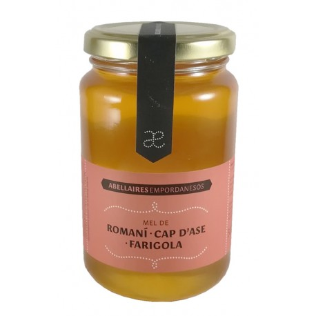 Abellaires Empordanesos mel de romaní, cap d'ase i farigola